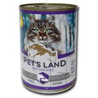 Pet's Land Cat konzerv sertéshússal, hallal és körtével