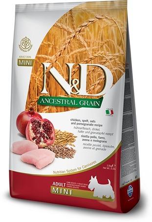 N&D Dog Adult Mini Chicken & Pomegranate Ancestral Grain | Kutyatáp kistestű kedvenceknek