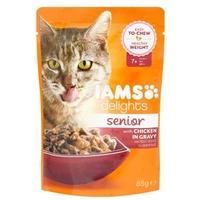 IAMS Cat Delights Senior – Csirke falatkák ízletes szószban