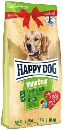 Happy Dog NaturCroq Lamb & Rice (15 + 3 kg) 18 kg