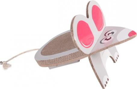 Flamingo egér alakú kaparó macskáknak + catnip