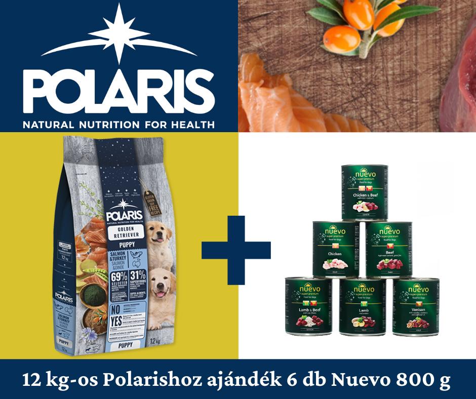 Polaris kutyatápokhoz Nuevo konzervek ajándékba