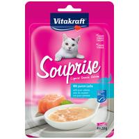 Vitakraft Souprise Liquid Snack Deluxe - Lazacfilés, spenótos leves macskáknak