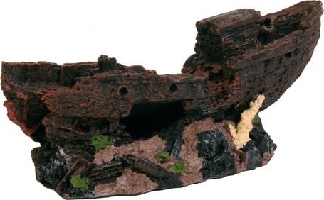Trixie hajóroncs sziklás talapzaton
