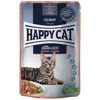 Happy Cat Meat in Sauce Atlantik-Lachs l Alutasakos eledel ízletes lazaccal macskáknak