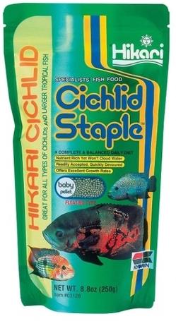 Hikari Cichlid Staple Baby színerősítő pellet haltáp növendék trópusi díszhalaknak