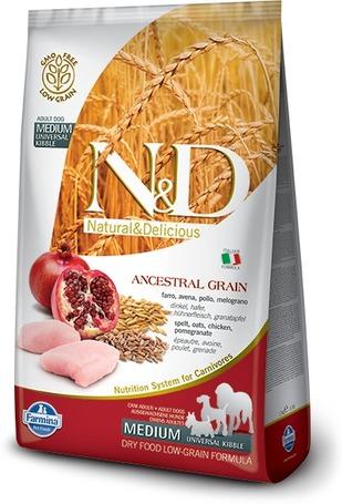 N&D Dog Adult Medium/Maxi Chicken & Pomegranate Ancestral Grain
