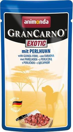 Animonda GranCarno Exotic gyöngytyúk-húsos eledel kutyáknak alutasakban