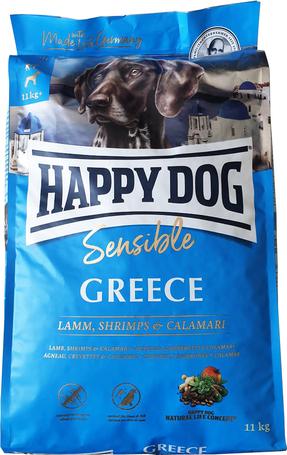Happy Dog Greece kutyatáp báránnyal, garnélával, tintahallal és mediterrán rizzsel