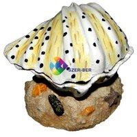 Fehér kagyló levegőporlasztós akvárium dekoráció