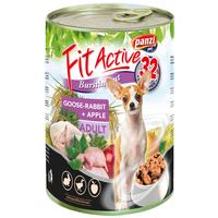 FitActive Dog Adult libás, nyulas és almás konzerv