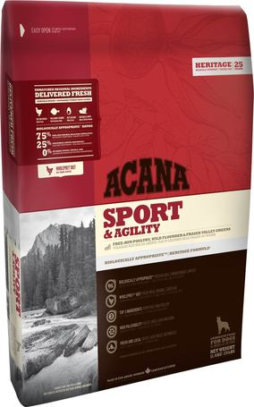 Acana Sport & Agility kutyatáp nagy fizikai igénybevételnek kitett kutyák számára
