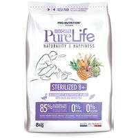 Flatazor Pure Life Chat Sterilised 8+ | Hipoallergén száraztáp ivartalanított idős macskáknak