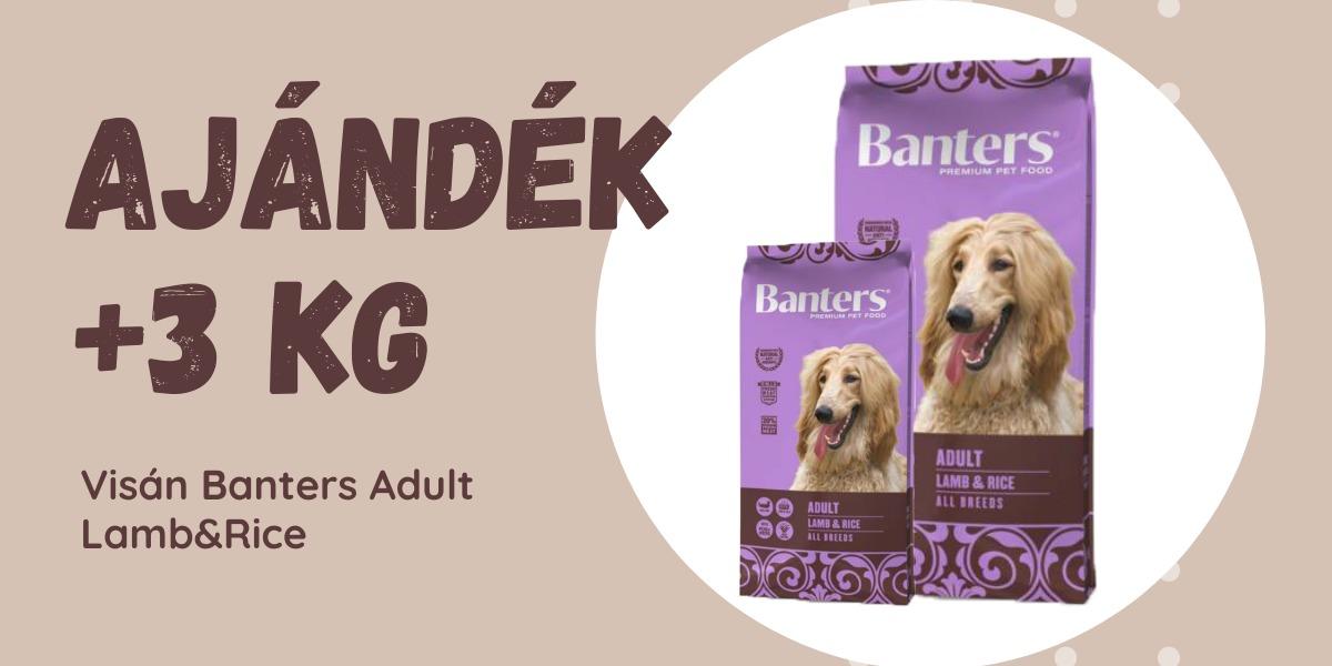 Visán Optima / Banters Dog Adult Lamb & Rice 15 + 3 kg