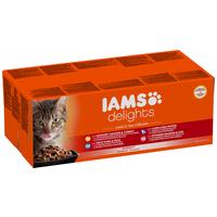 IAMS Cat Delights – Land & Sea – Szószos – Multipack