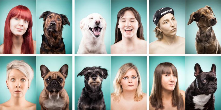 A kutya utánozni képes a gazdája mimikáját - Fotók: Ines Opifanti