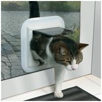 Trixie műanyag macska ajtó ablakhoz, üvegajtóhoz