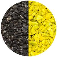 Mix akvárium aljzatkavics (sárga/fekete)