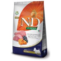 N&D Dog Grain Free Adult Mini sütőtök, bárány & áfonya kistestű felnőtt kutyáknak