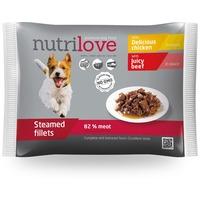 Nutrilove Dog csirke- és marhahús szószban - Alutasakos multipack