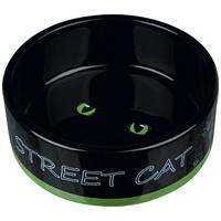 Trixie Street Cat kerámia tál