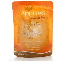 Applaws alutasakos macskaeledel csirkehússal és sütőtökkel zselében