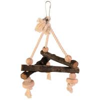 Trixie háromszög alakú fa hinta kötélen díszmadaraknak