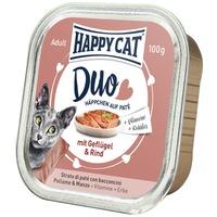 Happy Cat Duo szárnyas- és marhahúsos pástétom falatkák alutálkában