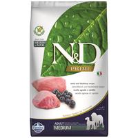 N&D Dog Prime Adult Medium Lamb & Blueberry | Bárányhúsos és vörösáfonyás táp közepes testméretű kutyáknak
