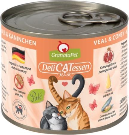 GranataPet DeliCatEssen borjú- és nyúlhúsos konzerv macskáknak