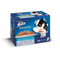 Felix alutasakos macskaeledel – Halas falatok aszpikban – Multipack (12 x 100 g)