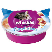 Whiskas Temptations lazacos jutalomfalatkák
