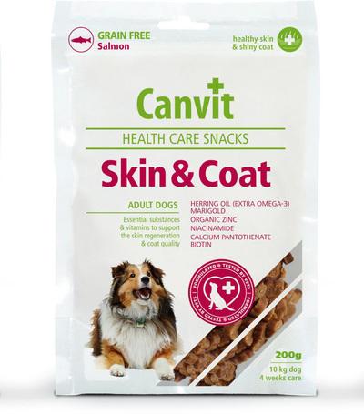 Canvit Health Care Skin & Coat Snack | Támogatja és regenerálja kutyánk bőrét és javítja szőrzete minőségét