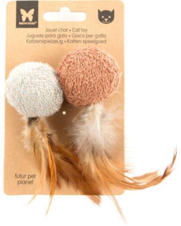Martin Sellier 100% természetes anyagokból készült öko macskajáték (2 db labda / csomag)