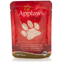 Applaws alutasakos macskaeledel tonhallal és garnélarákkal zselében