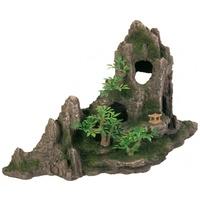 Trixie sziklák barlanggal és növényekkel