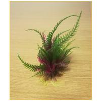Palás akváriumi műnövény vöröses-zöld levelekkel