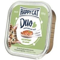 Happy Cat Duo szárnyas- és bárányhúsos pástétom falatkák alutálkában