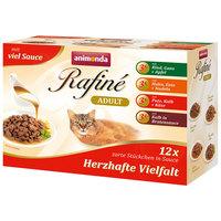Animonda Rafine Adult Multipack – Alutasakos macskaeledel szószban - 4 x 3 db