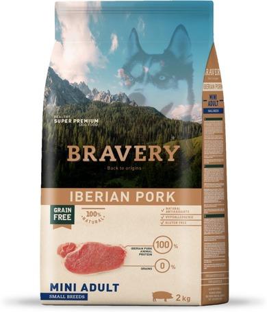 Bravery Dog Adult Mini Grain Free Iberian Pork   Kutyatáp Spanyolországból kis termetű felnőtt kutyáknak   Gabonamentes