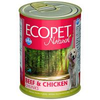 Ecopet Natural konzerv kutyáknak marha- és csirkehússal