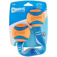 Chuckit! Ultra Duo Tug strapabíro gumilabdák hevederrel kutyáknak
