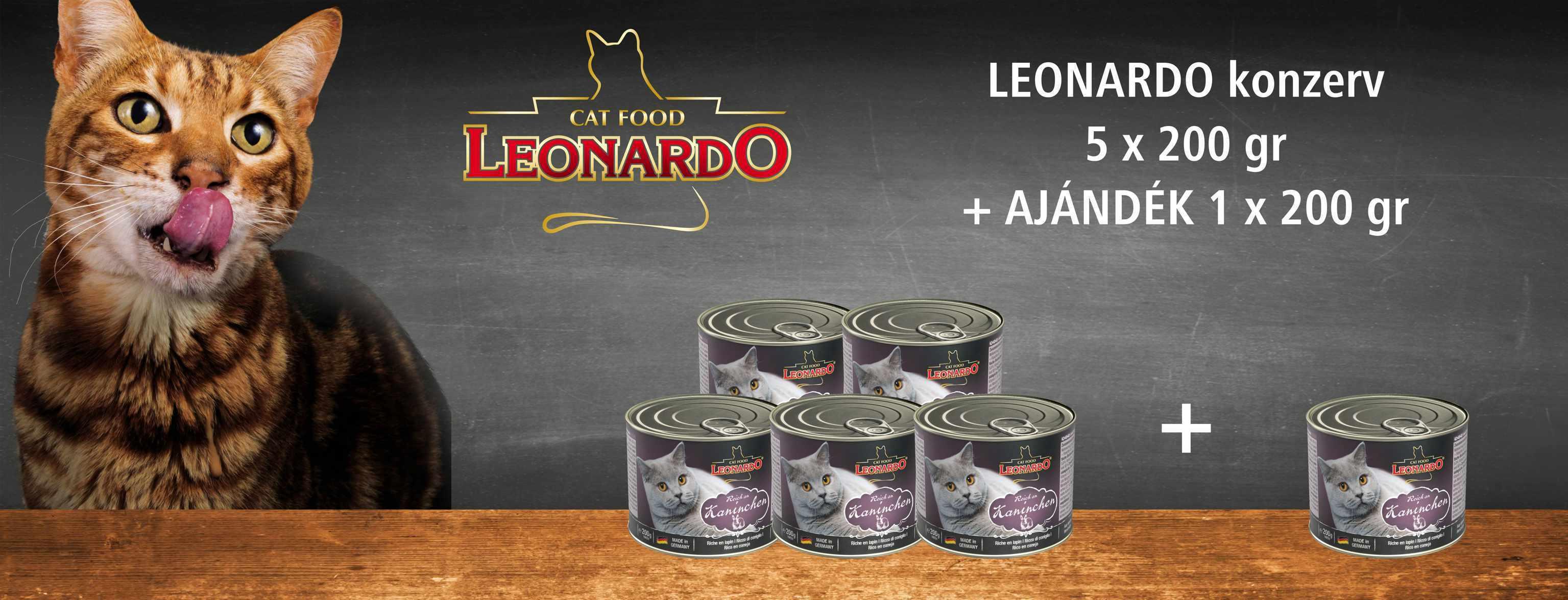 Leonardo 5+1 grátisz - Konzerves akció (200 g)