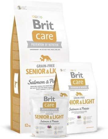 Brit Care Grain-Free Senior Salmon & Potato gabonaérzékeny idősödő kutyáknak