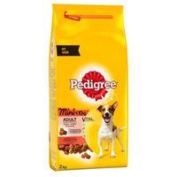 Pedigree Adult Mini marhahúsos és zöldséges száraztáp kutyáknak