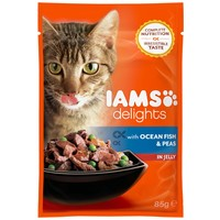 IAMS Cat Delights – Tengeri hal és borsó aszpikban