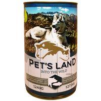 Pet's Land Dog konzerv sertéshússal, hallal és körtével
