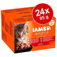 IAMS Cat Delights – Land & Sea – Aszpikos – Multipack