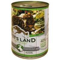 Pet's Land Cat konzerv vadhússal és répával