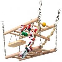 Ketrecbe függeszthető játékhíd rágcsálóknak